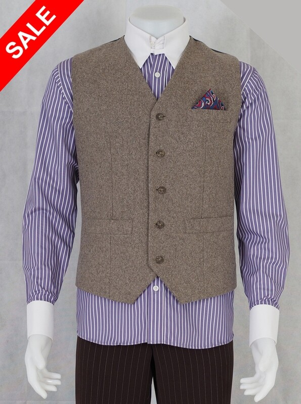Only This Waist Coat.Beige Tweed Waistcoat 38R