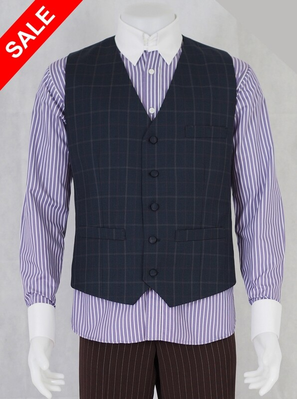Only This Waistcoat.Grey Check Houndstooth Waistcoat 40R