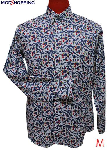 This Shirt Only Paisley Shirt Blue Floral Shirt.
