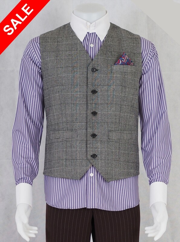 Only This Waistcoat Prince Of Wales Tweed Waistcoat 38R RRP