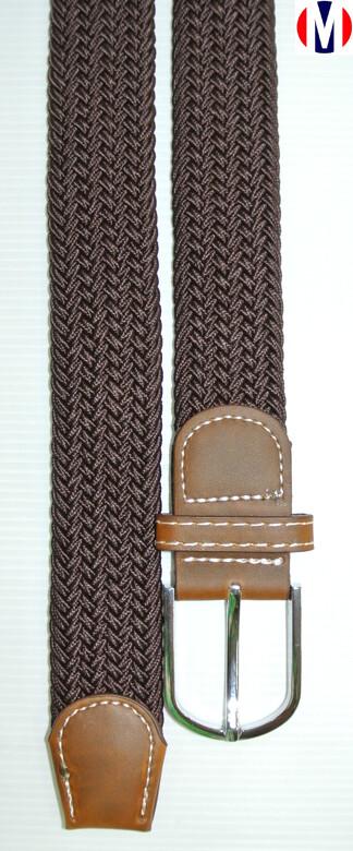 Woven Belts  Chocolate Elasticated Woven Belts