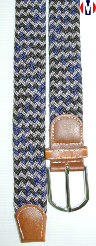 Woven Belts  Multi-Color Elasticated Woven Belts