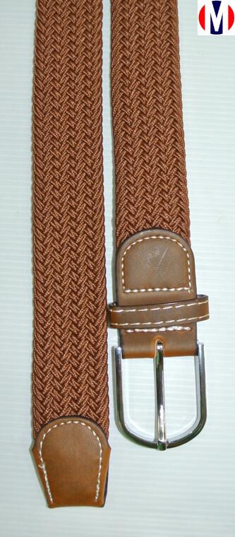 Woven Belts| Brown Elasticated Woven Belts