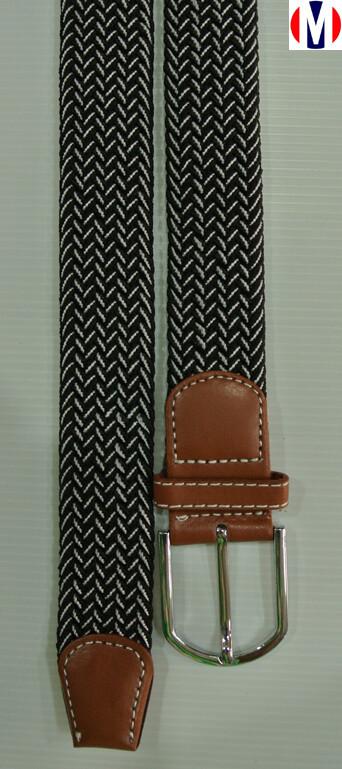 Woven Belts  Black Elasticated Woven Belts