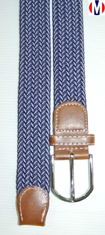 Woven Belts| Blue Herringbone Elasticated Woven Belts