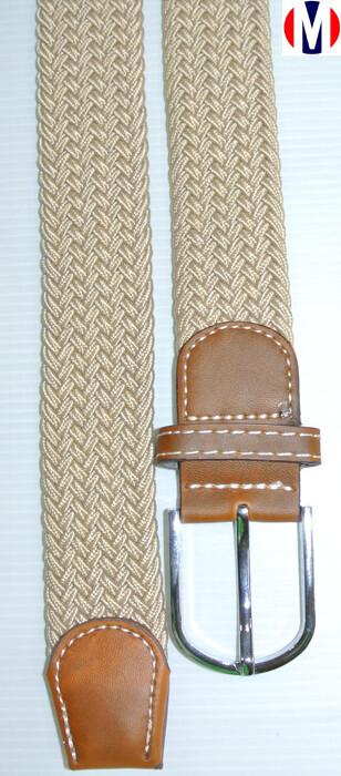 Woven Belts   Beige Elasticated Woven Belts