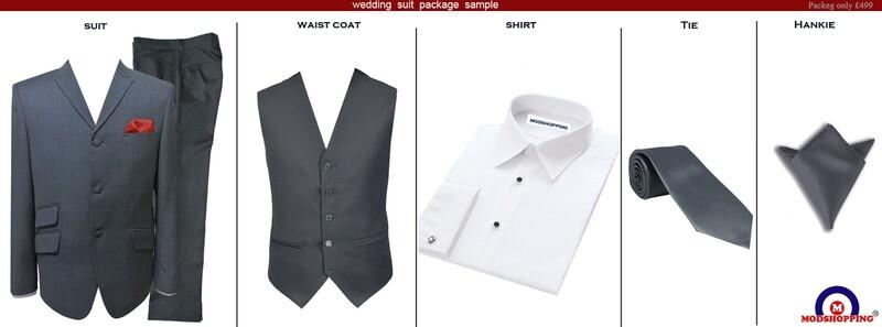 Grey Wedding Suit Package