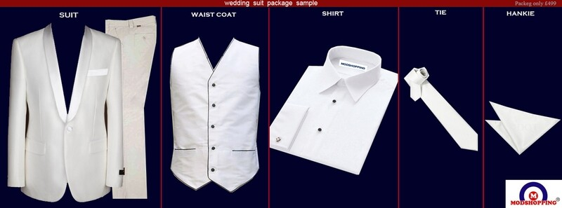 White Wedding Suit Package