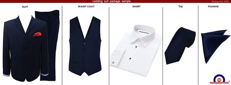Navy Blue Wedding Suit Package