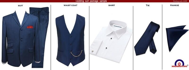 Pete Blue Wedding Suit Package