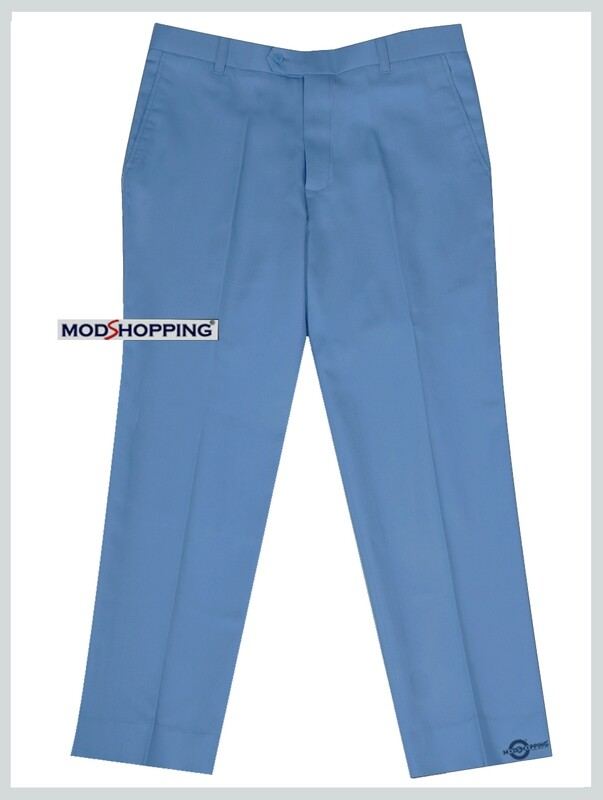 Sta Press Trousers| Tailor Made Cotton Baby Blue Trouser Uk