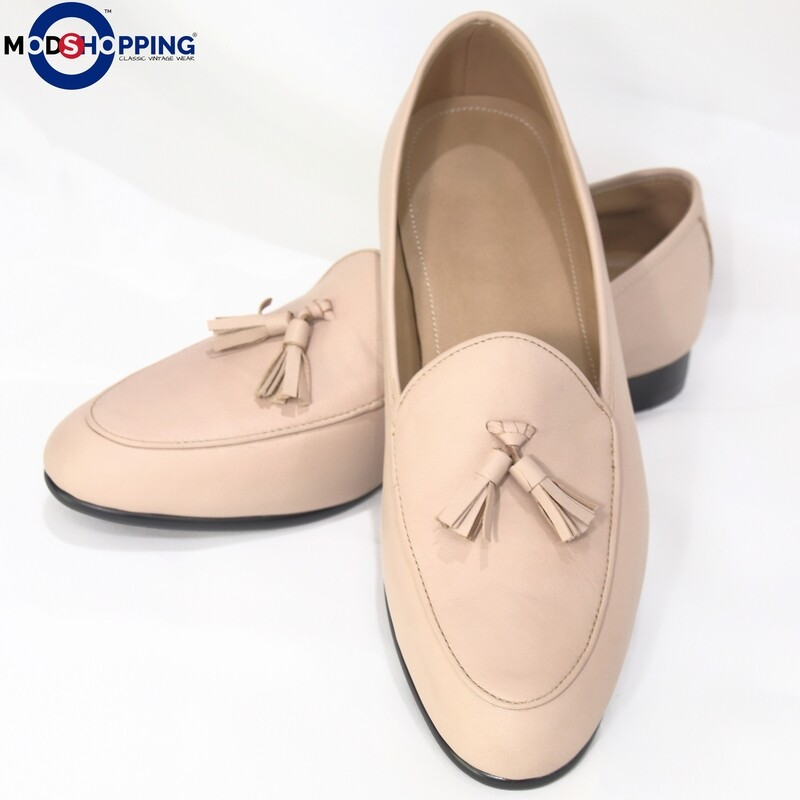 Tassel Loafer (Beige) Premier Loafer