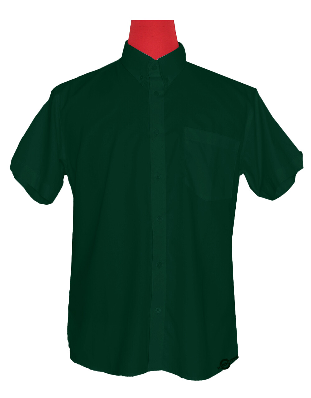Short-Sleeve Shirt | 60S Mod Style Dark Green Color Shirt For Man