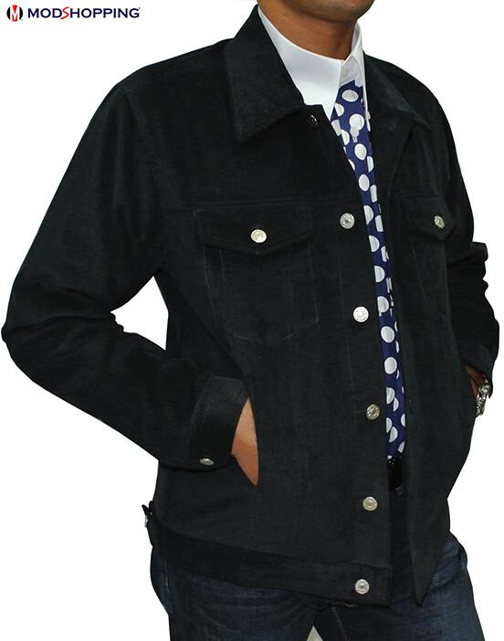 Vintage Black Corduroy Harrington Jacket