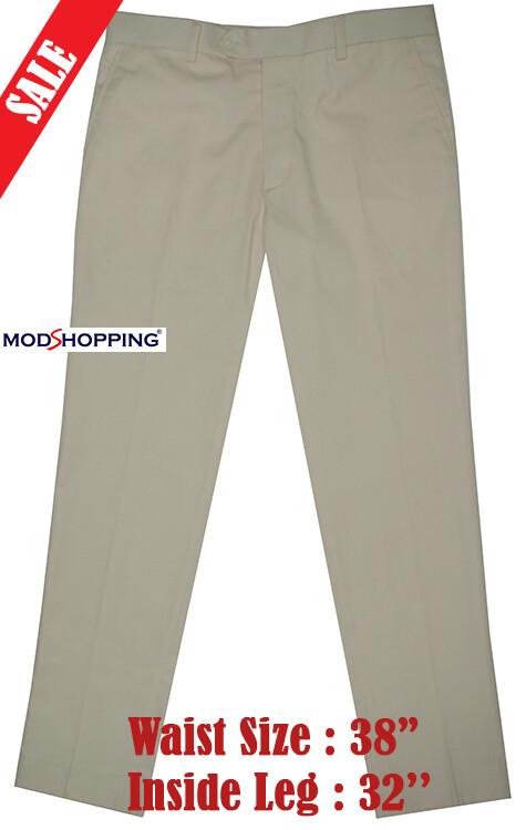 Sta Press Trousers| Slim Fit Cotton Yellow Trouser