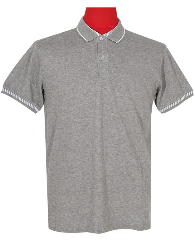 Polo Shirt Fabric Cool Plus Colour Grey  Polo Shirt