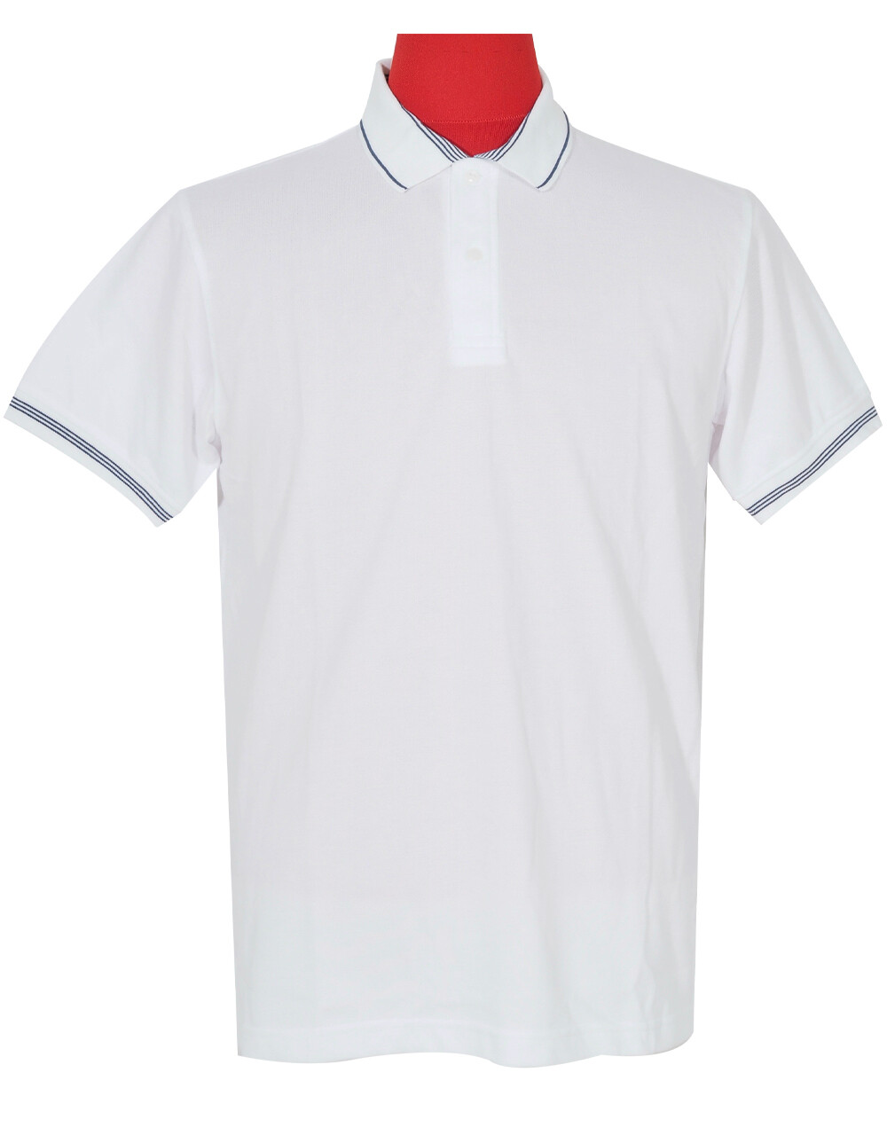 Polo Shirt Cool Plus Fabric White Color.