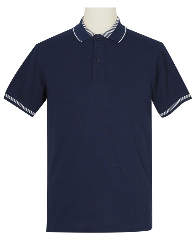 Polo Shirt Fabric Cool Plus Colour Navy Blue  Polo Shirt.