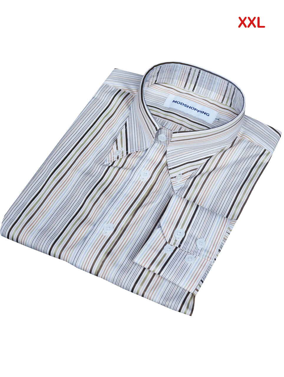 This Shirt Only. Multi-Color Stripe Button-Down Collar