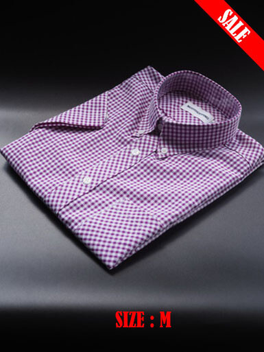 This Shirt Only Gingham Check lilac Color Shirt