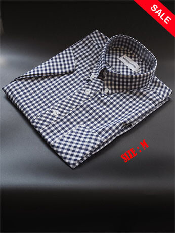 This Shirt Only Gingham Check Navy Blue Color Shirt