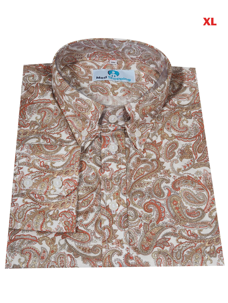 This Shirt Only This Shirt Only Paisley Off White Multi-Color Shirt