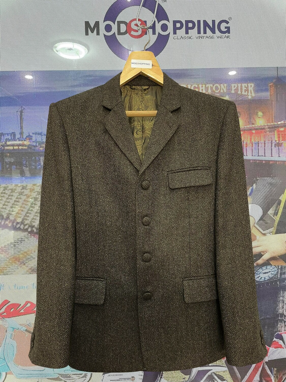 Brown Tweed Jacket For Men's