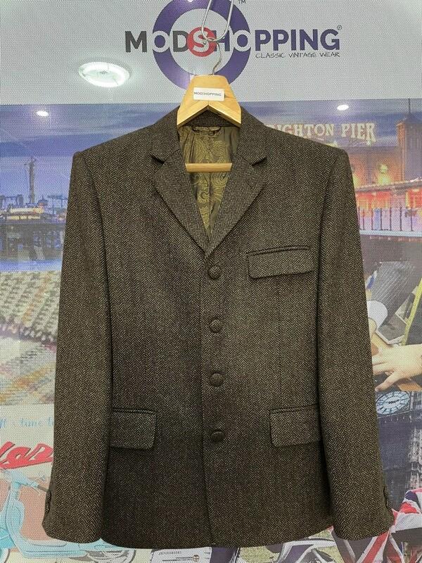 Brown Tweed Jacket For Men's
