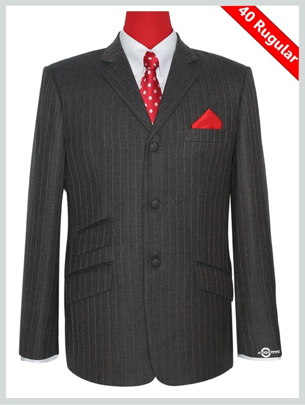 Herringbone Brown Grey Tweed Jacke 40R