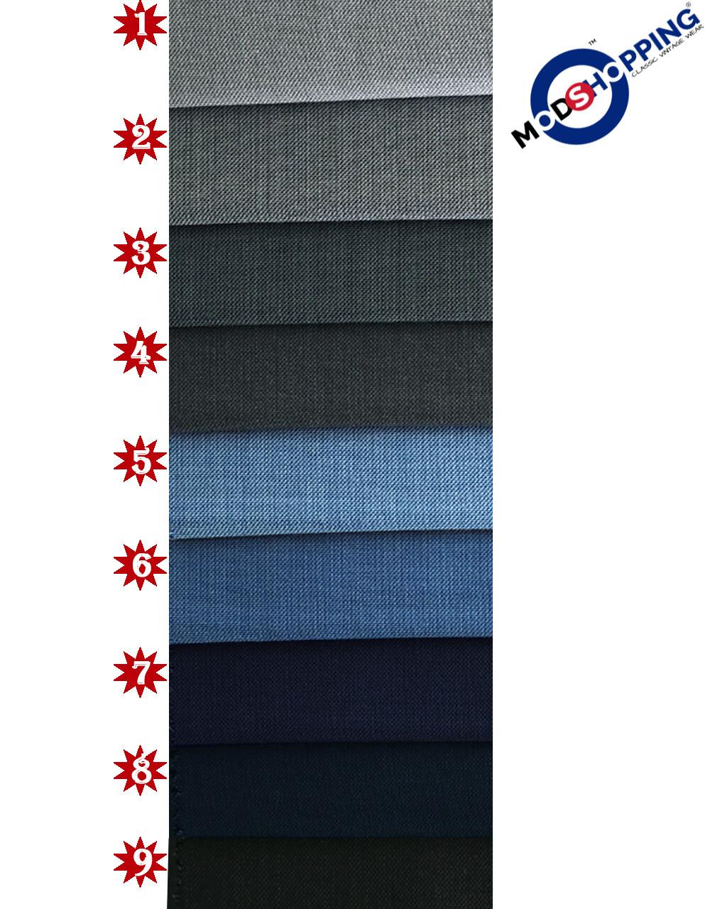 Custom 3 Piece Plain Color Wool & Mohair Mix Suit