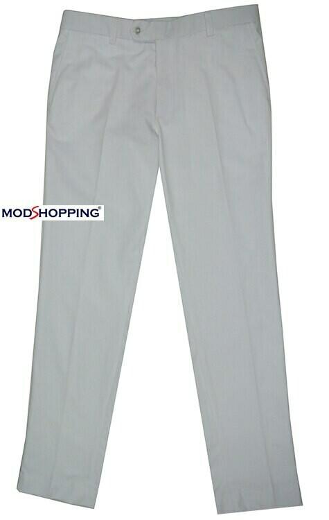 Sta Press Trousers | 60s Mod Classic White  Mens Trouser