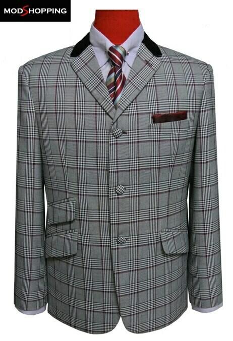 Grey Prince Of Wales Check Blazer Jacket