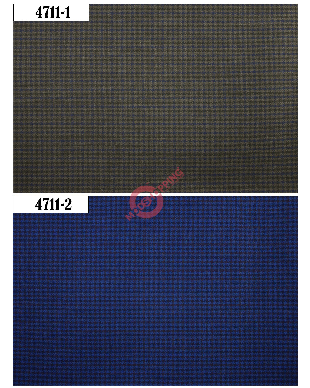 Exclusive Fabric Houndstooth Australia Wool 3 Piece Suit