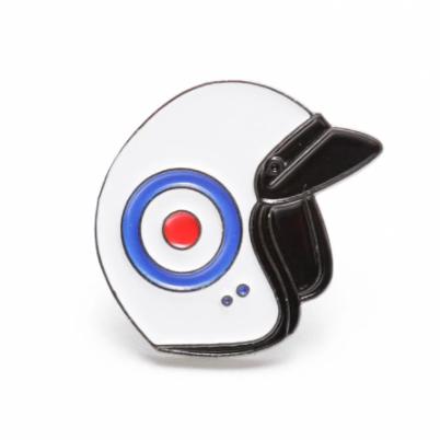 Pin Badge Roundel Scooter Helmet Mod Design