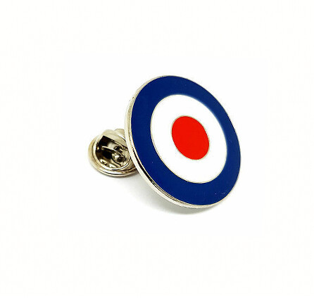 60s Fashion Mod Target Lapel Pin Badge