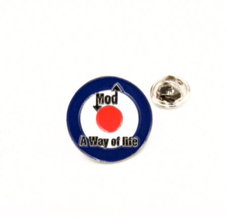Mod A Way of life Target Lapel Pin Badge
