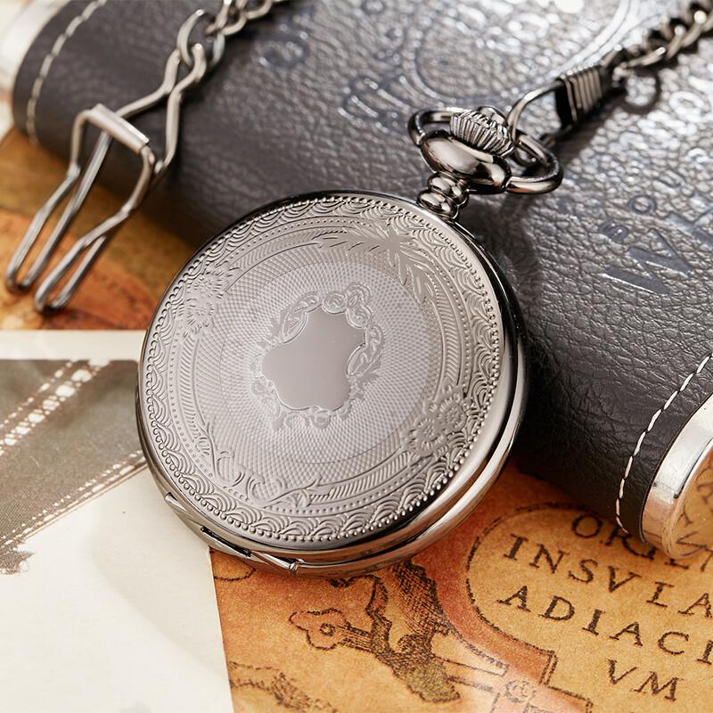 Men's Vintage Pocket Watch Black Color