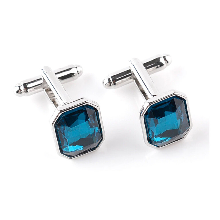 Luxury Men's Blue Crystal Cufflinks