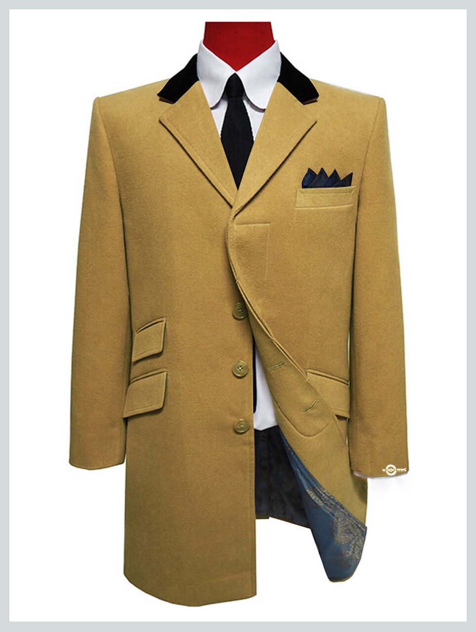 Overcoat Mens| 60s Mod Winter Wool Camel Over Coat