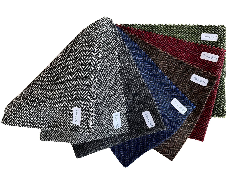 2 Piece Herringbone Italian Tweed Suit