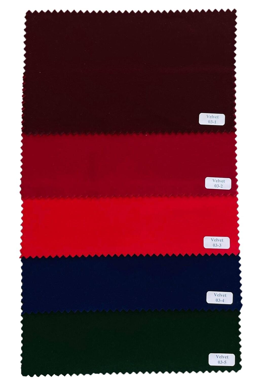 2 Piece Suit Plain Color Original Velvet Suit