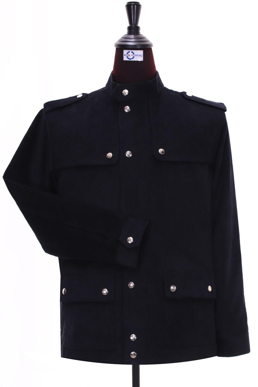 Classic Black Corduroy Scooter Jacket