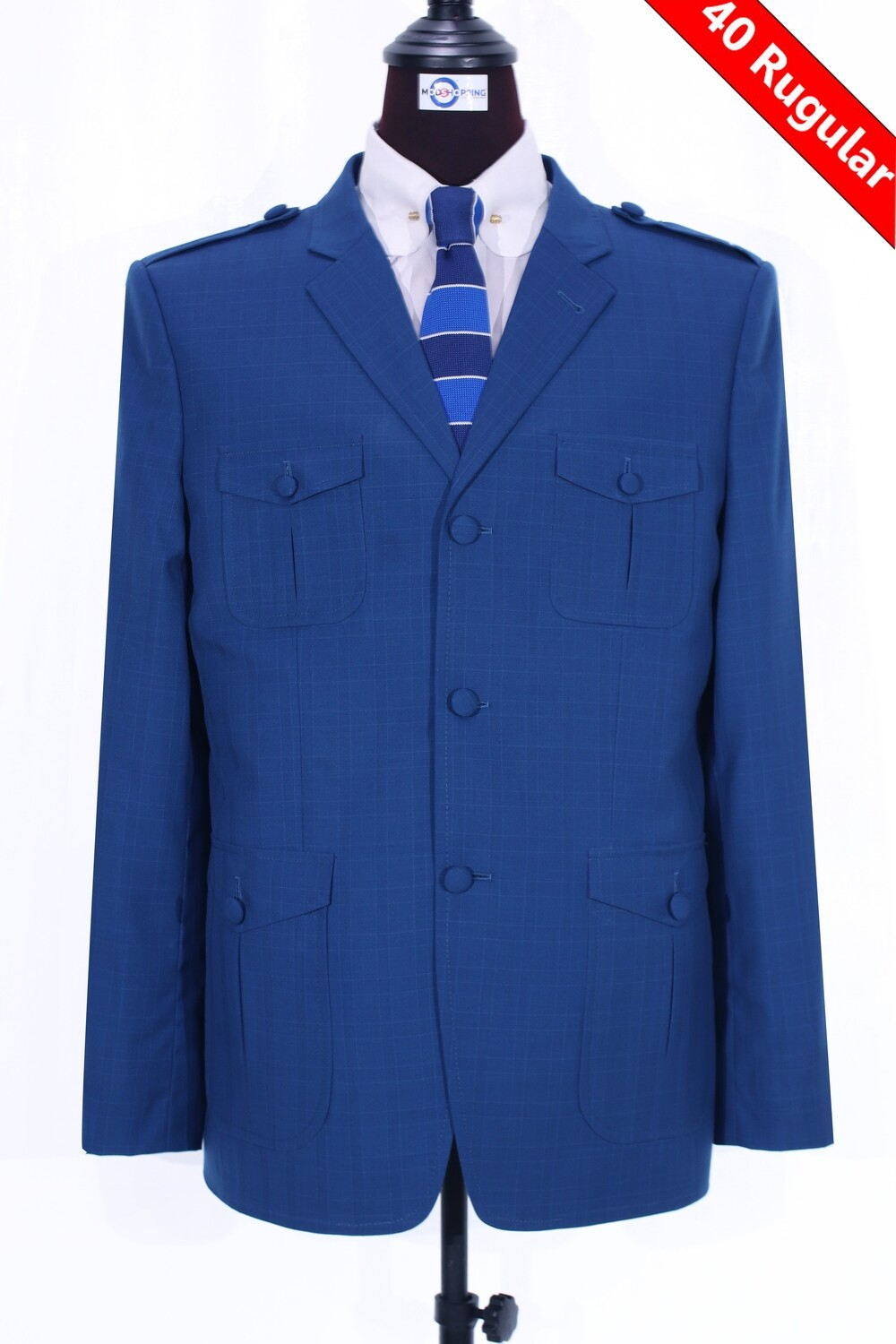 Sale Only This Jacket    Blue Plaid Wool Jacket