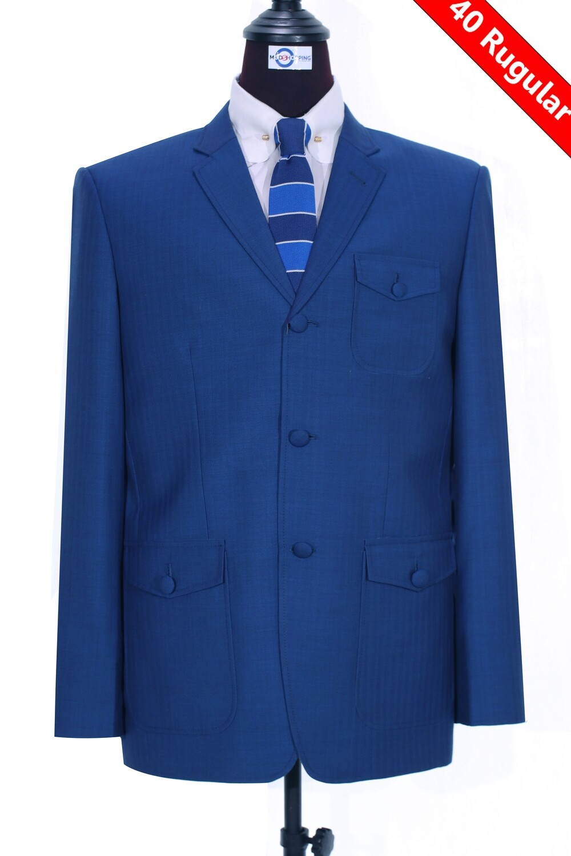 Sale Only This Jacket Sapphire Blue Herringbone