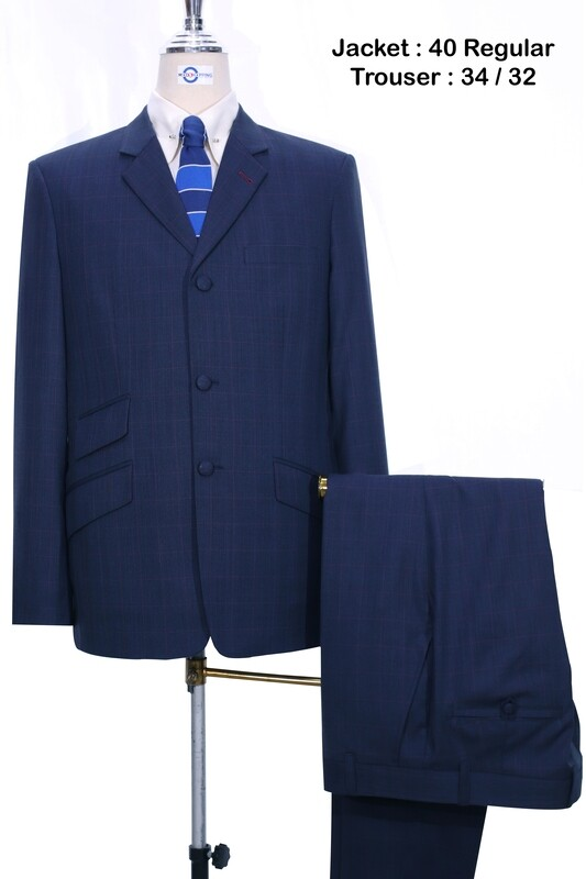 Sale This Suit Navy Blue Prince Of Wales Check Suit