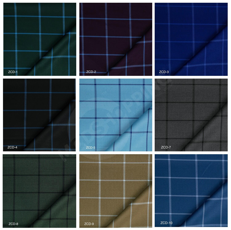 Custom 2 Piece Suit   Windowpane Check Suit