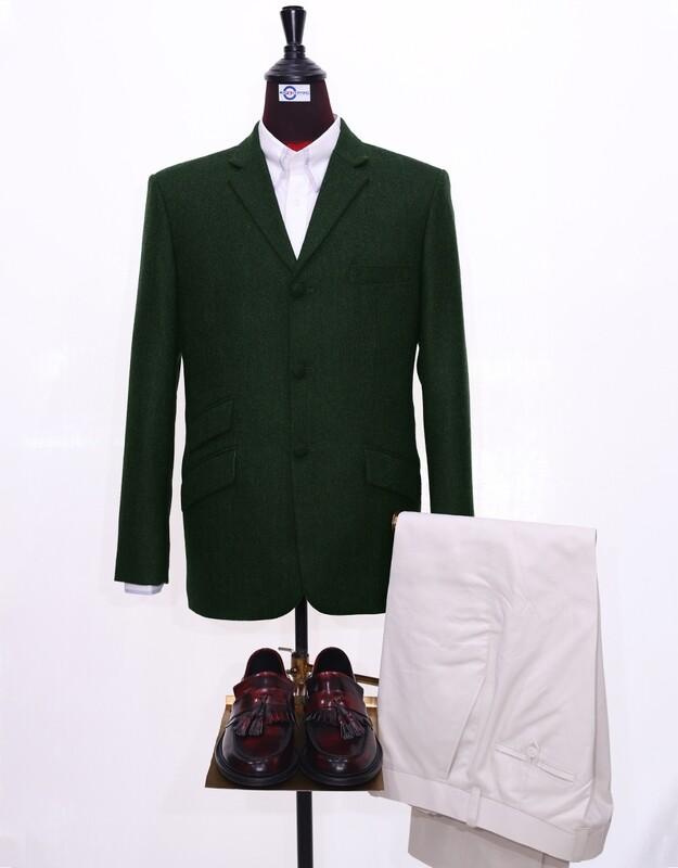 Tweed Jacket   Olive Green Herringbone Jacket