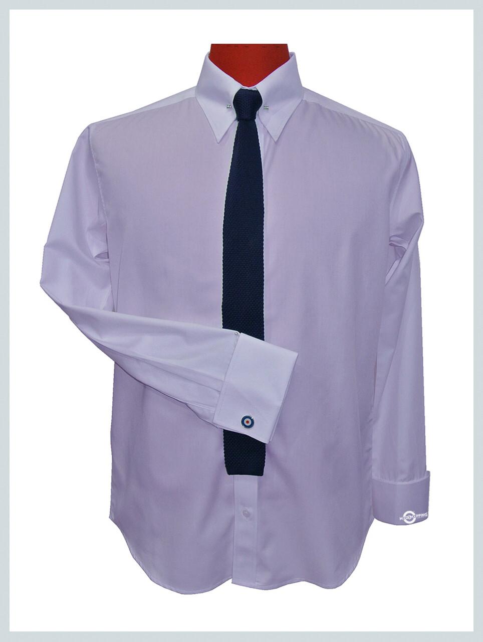 Lavender Pin High Collar Shirt