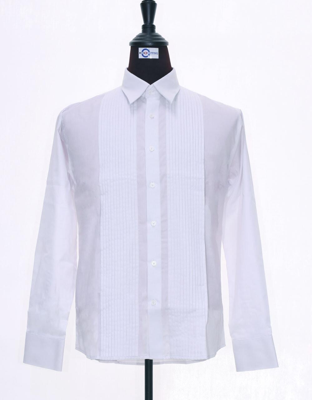 White Tuxedo Shirt For Man