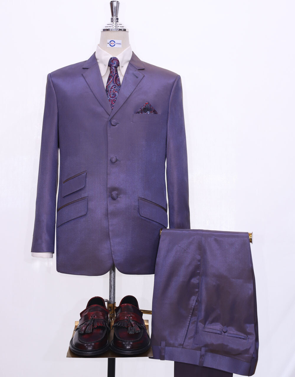 Two Tone Suit   Brown Purple Two Tone Tonic Suit